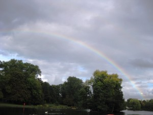 Rainbow on Handsworth Park lake