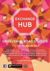 exchange hub poster without body text
